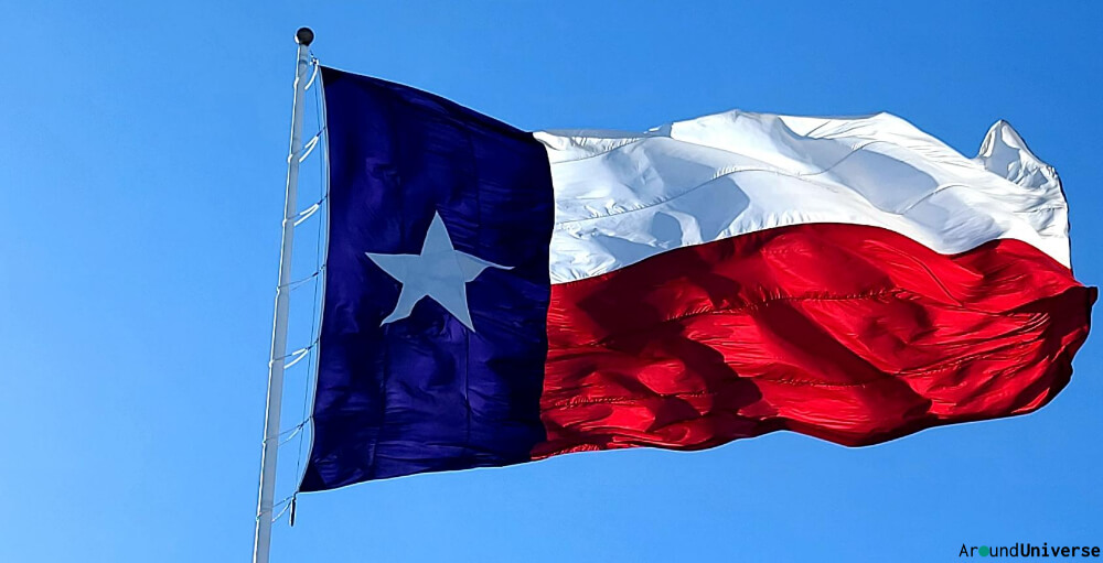 Texas Versus Chile Flags Differ
